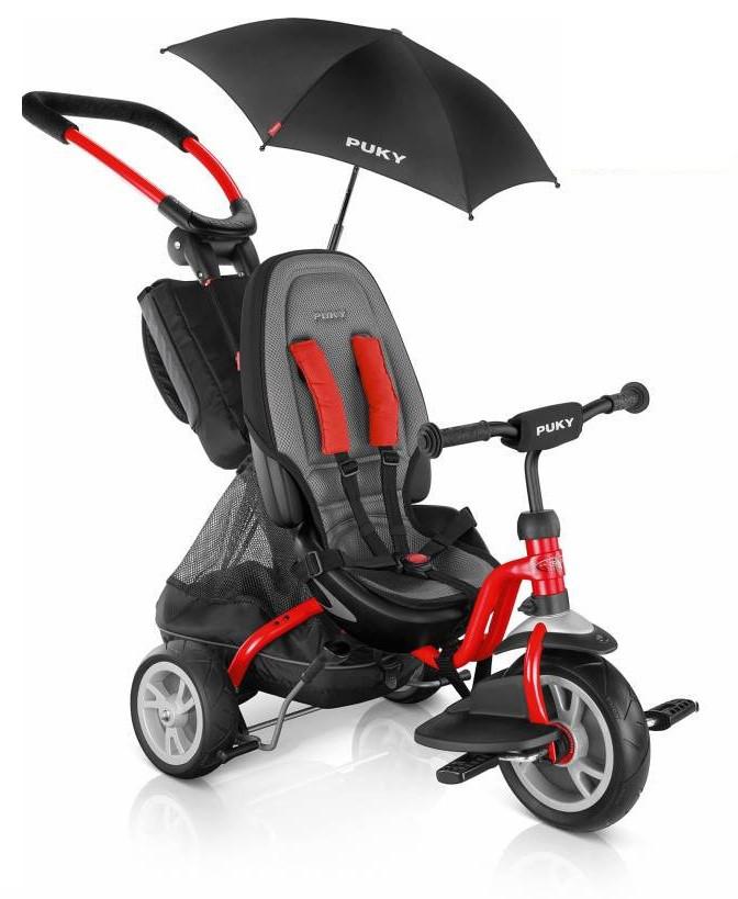 Велосипед-коляска трёхколесная Puky Puky CAT S6 Ceety с ручкой багажником зонтиком и ремнями