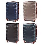 Дорожный чемодан на колесах WINGS 402 Exlusive из поликарбоната Большой, фото 2