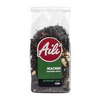 """Чай Aili """"Жасмин"""" зеленый Ганпаудер 150 грамм в упаковке (натуральный, рассыпчатый, крупнолистовой)"""