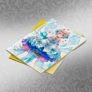 Скетчбук А5 кремовые листы Re Zero 30 листов 009