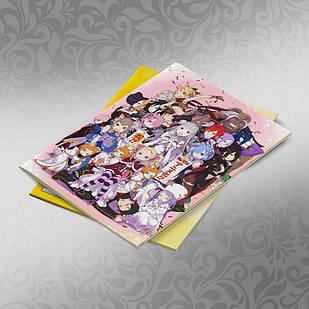 Скетчбук А5 кремовые листы Re Zero 30 листов 011