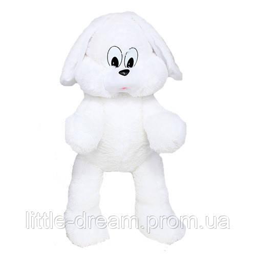 Большая игрушка Алина зайка Снежок 90 см белый