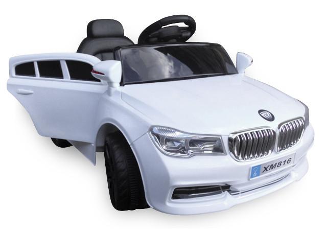 Дитячий електромобіль на акумуляторі Cabrio B4 ЄВА білий, з пультом управління