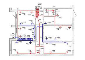 Компактно, под потолком в углу комнаты, смонтировали приточную систему для офисных помещений.