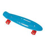 Пенниборд-скейт S206, дека с ручкой, колёса PU СВЕТЯЩИЕСЯ, фото 4