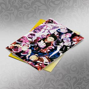 Скетчбук А5 кремовые листы Re Zero 30 листов 010