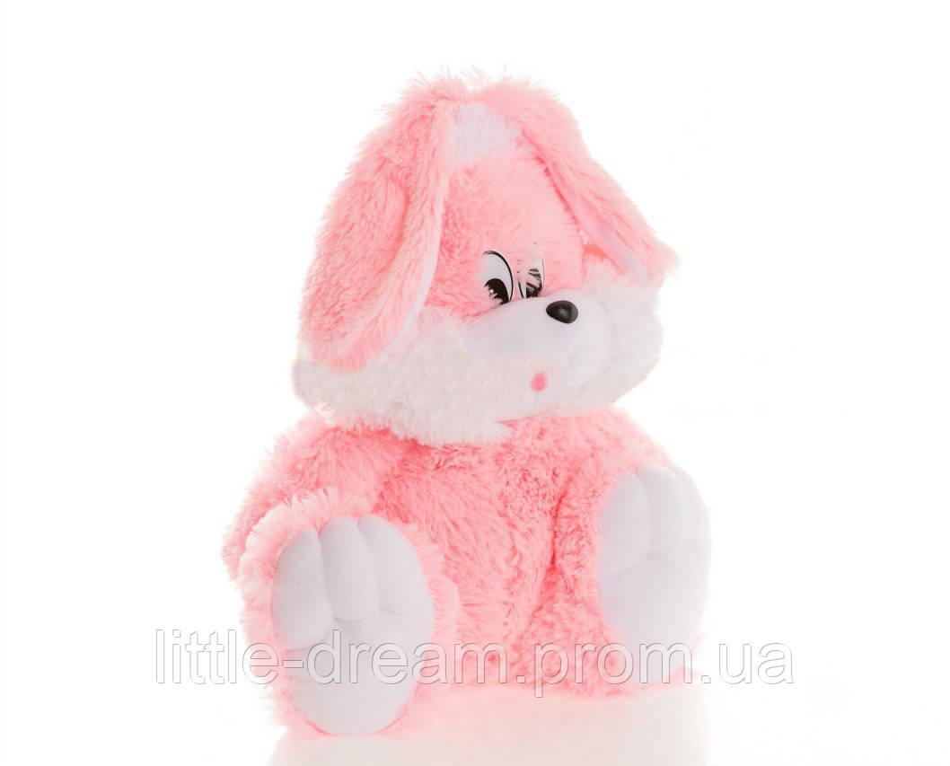 Зайчик Алина сидячий 55 см розовый