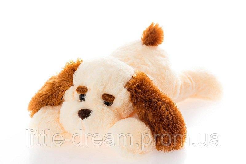 Собака Алина Тузик 65 см персиковый