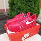 Чоловічі кросівки в стилі Nike Air Force 1 LV8 низькі червоні (біла кома), фото 2
