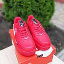 Чоловічі кросівки в стилі Nike Air Force 1 LV8 низькі червоні (біла кома), фото 3