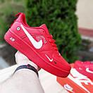 Мужские кроссовки в стиле Nike Air Force 1 LV8  низкие красные (белая запятая), фото 4