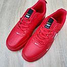 Чоловічі кросівки в стилі Nike Air Force 1 LV8 низькі червоні (біла кома), фото 8