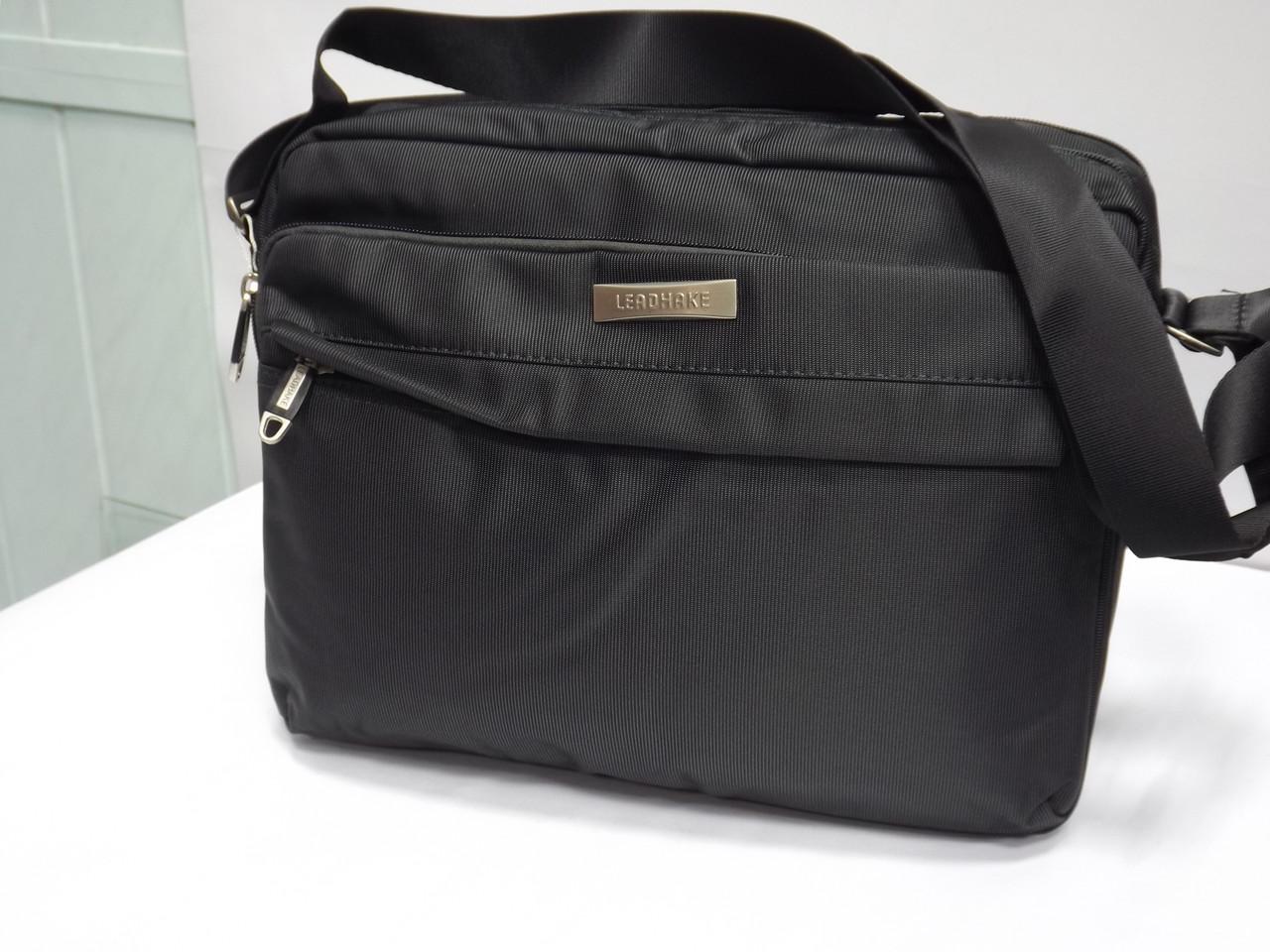 ff746b0f5ccb Мужская текстильная сумка для ноутбука через плечо Leadhake 6211 ...