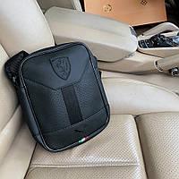 Мессенджер Puma Ferrari Ls Portable черный, мужская сумка через плечо, борсетка