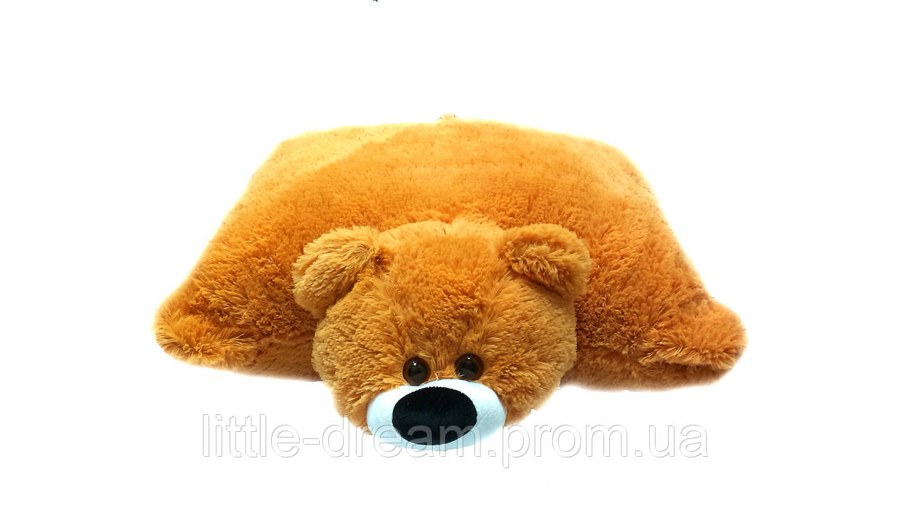 Подушка-игрушка Алина мишка 55 см медовая