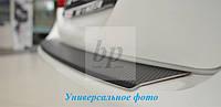 Защитная хром накладка на задний бампер с загибом BMW X6 e71/e72 (БМВ Х6 е71/е72) 2010г+