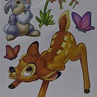Наклейка, Бэмби, заец, декупаж, интерьерная Декор №34, фото 1