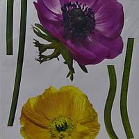 Наклейка, цветы, мак, декупаж, интерьерная Декор №40