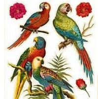 Наклейка, птицы, интерьерная, декупаж, попугаи, Декор №39, фото 1