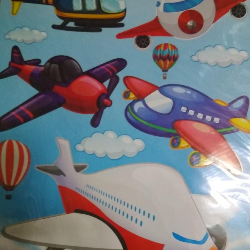 Декоративная наклейка, детская, самолётики, ZV №19
