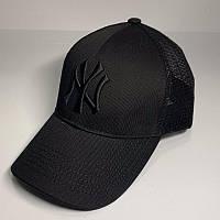 Бейсболка унисекс New York Yankees реплика Черная с сеткой