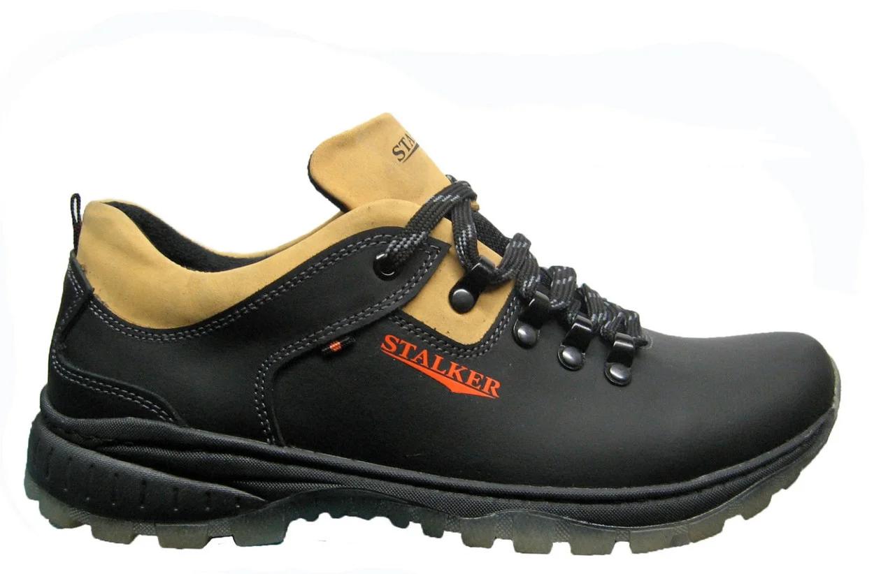 Мужские кожаные кроссовки Stalker Model -046 размеры 40 41 42 43 44 45