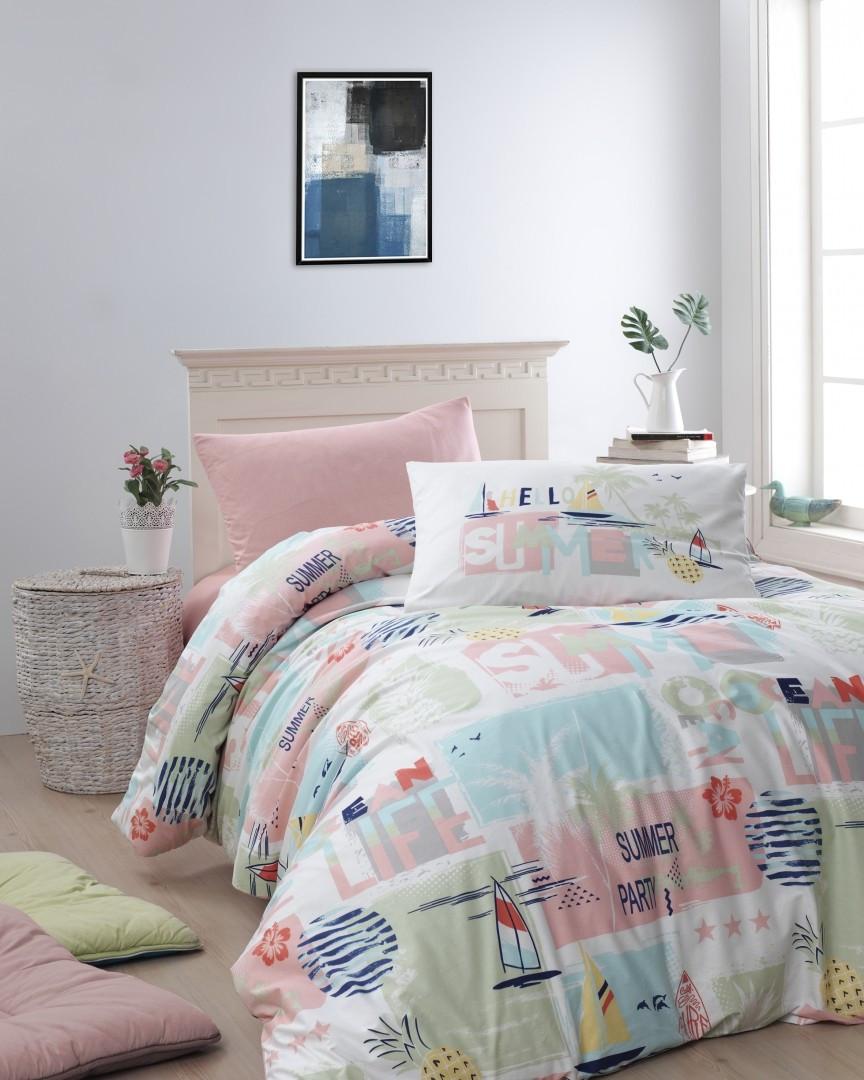 Комплект постельного белья First Choice Ranforce подростковый Summer somon