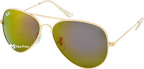 Cолнцезащитные очки Ray Ban Aviator 3026 62-14-138 Brown хамелеон (реплика)