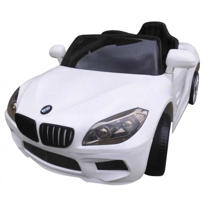 Дитячий електромобіль на акумуляторі Cabrio B14 білий, з пультом управління (чудомобіль)