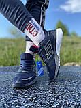Стильні кросівки adidas blue/ Адідас сині, фото 4