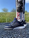 Стильні кросівки adidas blue/ Адідас сині, фото 6