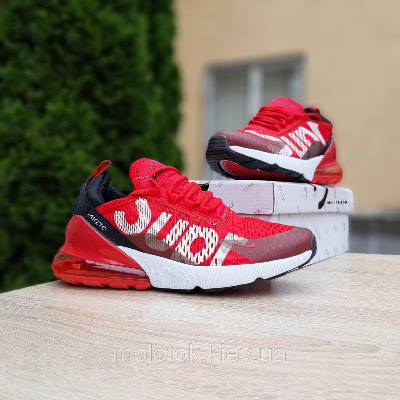 Мужские кроссовки в стиле Nike Air Max 270 Supreme красные