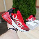 Мужские кроссовки в стиле Nike Air Max 270 Supreme красные, фото 3