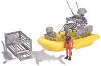 Набор лодка с акулой Shark Set Playset