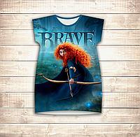 Платье-туника 3D для девушек Храбрая сердцем