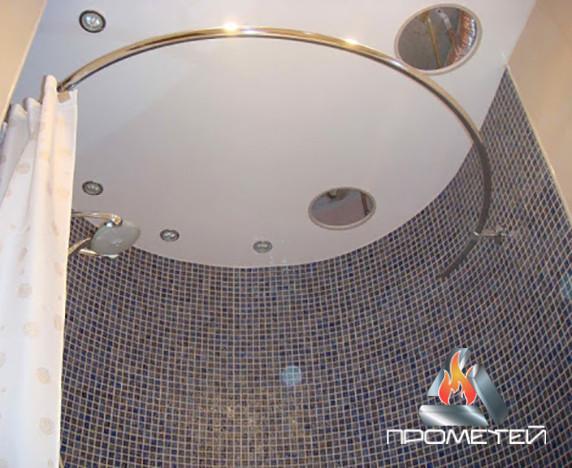 Напівкруглий/овальний металевий поручень для душу ванної потрібної форми під замовлення, Ø 20мм, 25мм, 30мм, 32мм