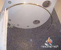 Напівкруглий/овальний металевий поручень для душу ванної потрібної форми під замовлення, Ø 20мм, 25мм, 30мм, 32мм, фото 1