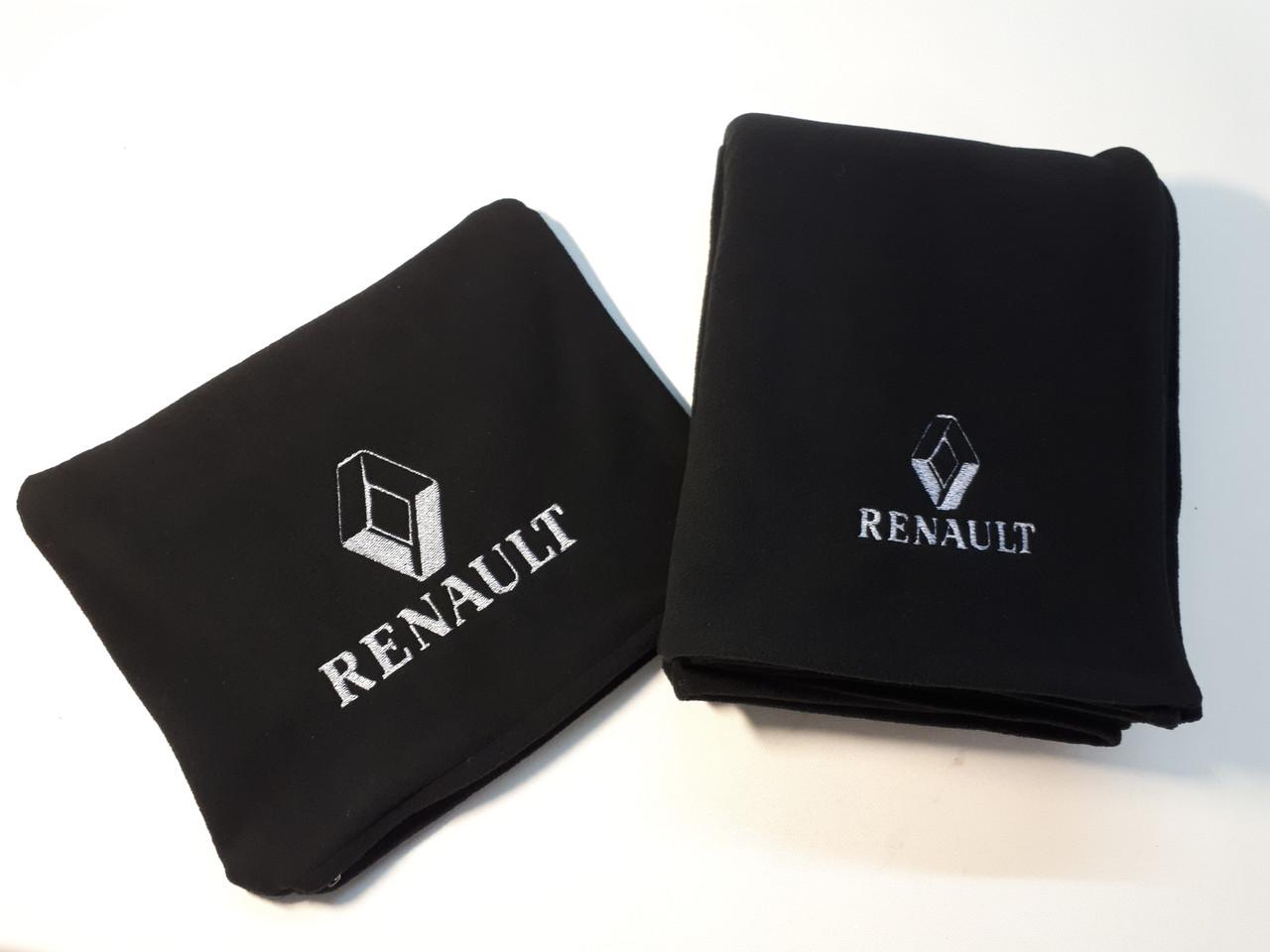 """Автомобільні плед в чохлі з логотипом """"Renault"""" колір на вибір"""