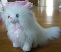 Мягкая игрушка озвученная кот пушистый сидит