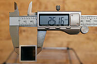 Труба алюминиевая 25х25х2,0мм АД31 Т5