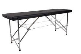 """Масажний стіл кушетка """"Стандарт"""" Складаний для косметологічних і масажних процедур Чорний"""