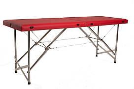 """Масажний стіл кушетка """"Стандарт"""" Складаний для косметологічних і масажних процедур Червоний"""