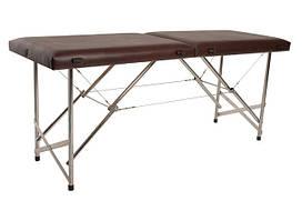 """Масажний стіл кушетка """"Стандарт"""" Складаний для косметологічних і масажних процедур Коричневий"""