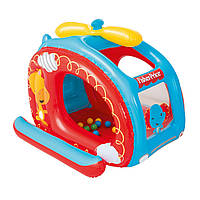 Надувной детский игровой домик манеж Bestway 93502 «Вертолет» с шариками 25 шт, фото 1