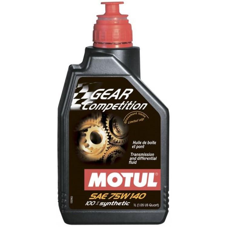 Масло трансмиссионное MOTUL Gear Competition SAE 75W140 (1L)