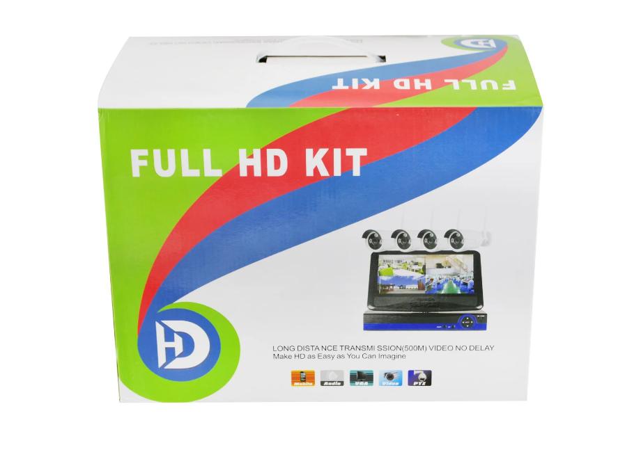 Набор видеонаблюдения (4 камеры) WiFi kit, Регистратор + 4 камеры видеонаблюдения, Беспроводной