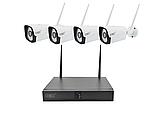 Набор видеонаблюдения (4 камеры) WiFi kit, Регистратор + 4 камеры видеонаблюдения, Беспроводной, фото 2