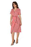 Яркое женское платье с имитацией запаха, фото 1