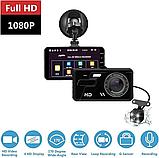 Автомобильный видеорегистратор A11 Full HD 2 камеры, фото 4