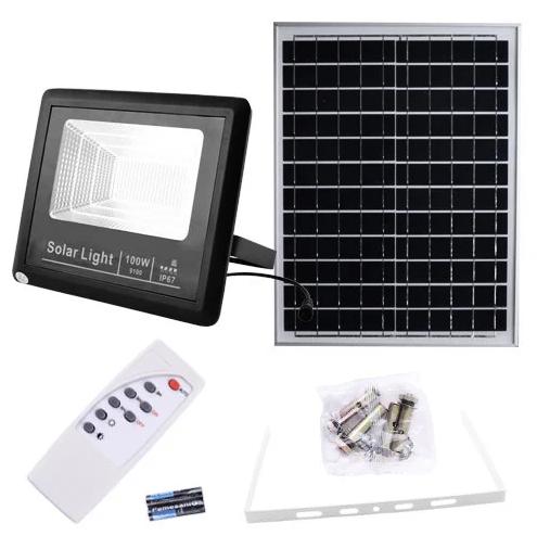 Прожектор 9100 100W SMD, IP67, солнечная батарея, пульт ДУ, встроенный аккумулятор, таймер, датчик